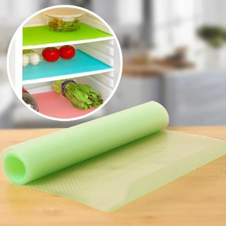 4 pcs/lot Can Be Cut Refrigerator Pad Antibacterial Antifouling Mildew Moisture Absorption Pad Kitchen Table Mats 29cm*45cm(China (Mainland))
