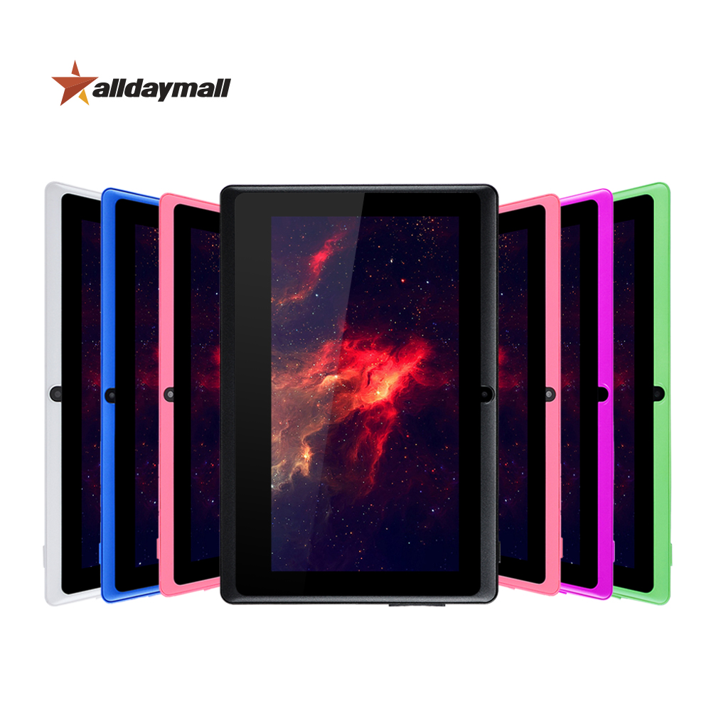 "Alldaymall A88X 7"" Tablet PC 8GB ROM Android Tablet 7 inch 6 Color Tablets Support Quad Core Allwinner A33 1024*600 HD Tablette(China (Mainland))"