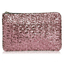 Free shipping 2015 New Dazzling Glitter Sparkling Bling Sequins Evening Party Handbag Women Clutch Wallet FCI