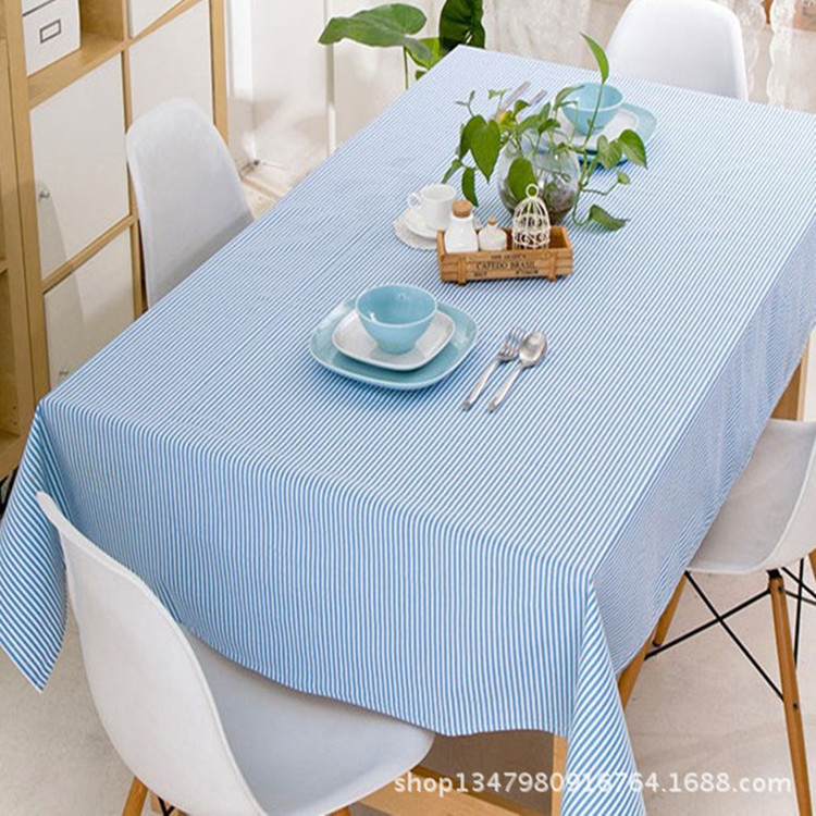 2016 New Arrival Tablecloth Linen Striped Table Cloth Fashion Pastoral Style Coffee Tables Cover Flag Tablecloths Wedding Party(China (Mainland))