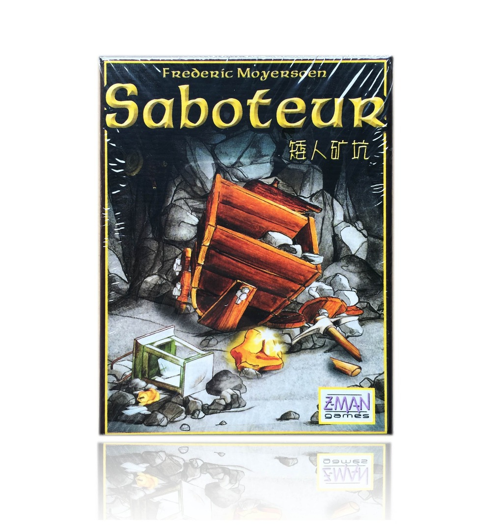 English Saboteur card game, board game playing cards saboteur 1, 2 expansion optional, english rules in package wholesale(China (Mainland))