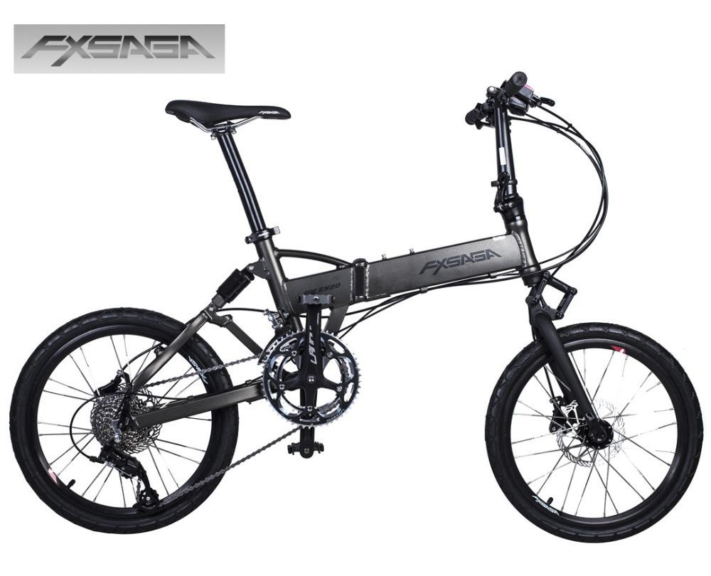 FXSAGA 20 inch  Aluminum 18 speeds full suspension M355 Hydraulic disc brakes folding bike bicyle fold bicycle<br><br>Aliexpress