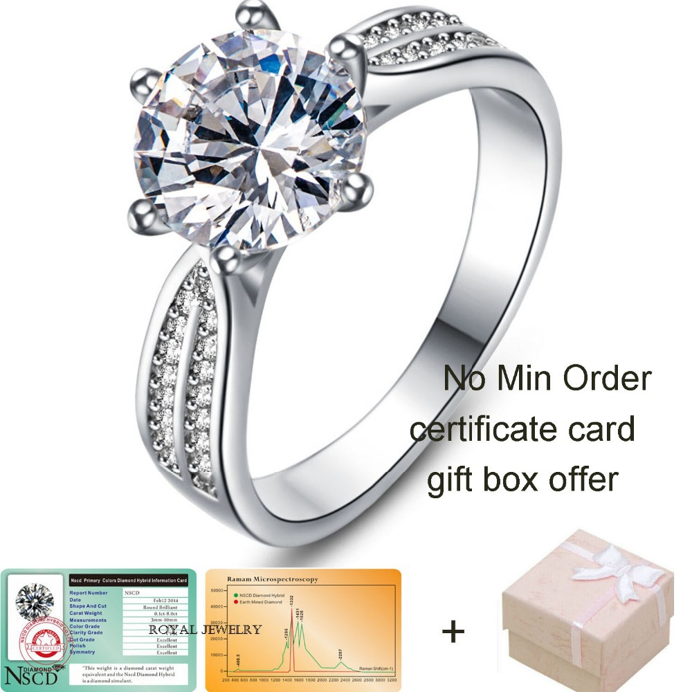 New Arrival 3ct 925 sterling silver jewelry Classic Engagement Ring 6 Claws 9mm AAA Swiss Arrows CZ Diamond Ring Jewelry 108(China (Mainland))