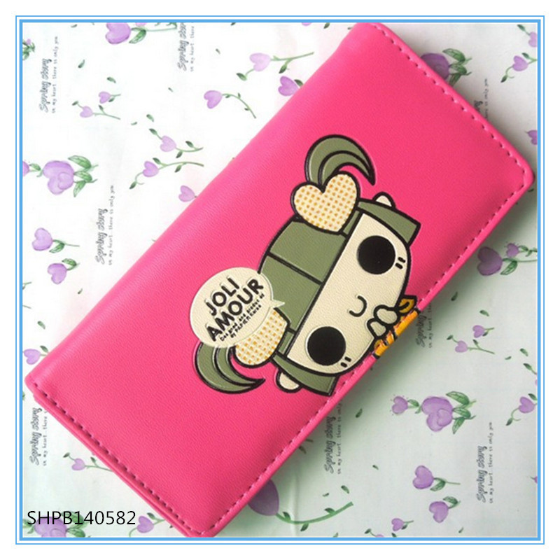 red girl cute zipper wallet wholesale hot sale cheap wallet(China (Mainland))