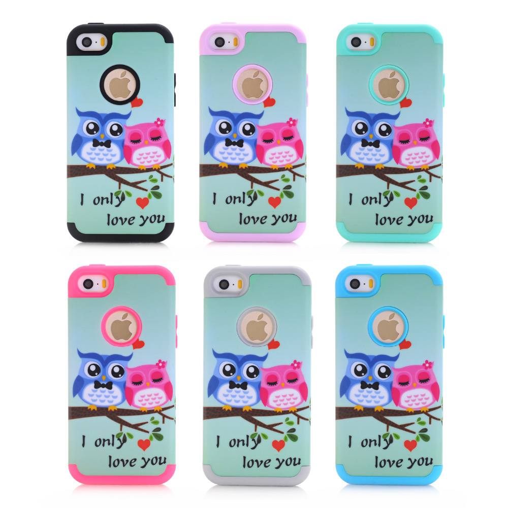 for iPhone 5/5C/5s/se personalized cheap cell phone accessories iphone cases wholesale suppliers love owl mobile phone hot sale(China (Mainland))