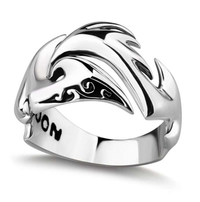 silver sterling silver jewelry wholesale Korean men fashion ring men's jewelry(China (Mainland))