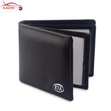 Car Logo Accessories Leather License Cover Case Card Holder Bag KIA Sportage R K2 RIO K3 Ceed Cerato K5 Sorento KX3 K4 Soul - axiauto Store store