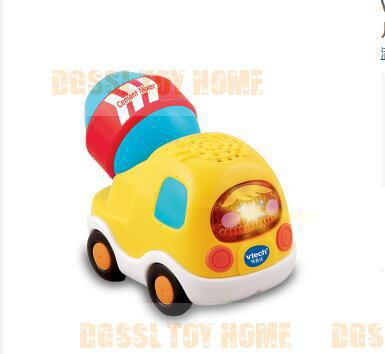 Vtech Yellow Cement Mixer car / Magic Rail Car / Singing Children's Car/ Baby toy(China (Mainland))