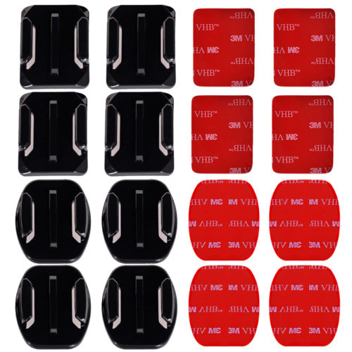 BITB 4 x Flat Surface Mount 4 x Curved Surface Mount Mount 3M Adhesive Sticky For Gopro Hero 3 3+ 4(China (Mainland))
