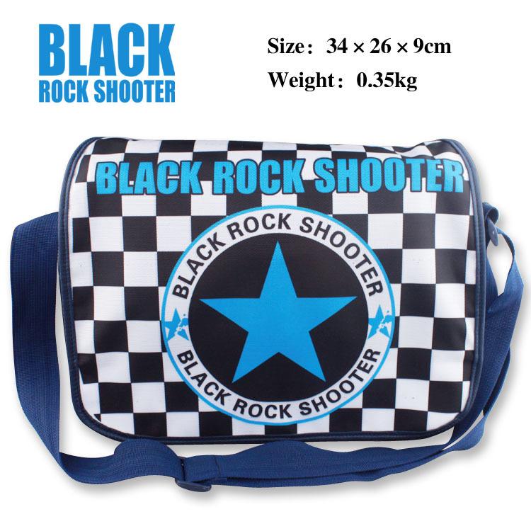 Anime BLACK ROCK SHOOTER Messenger Bag School Bag For Students Kids Children Boys Girls Canvas Bags(China (Mainland))