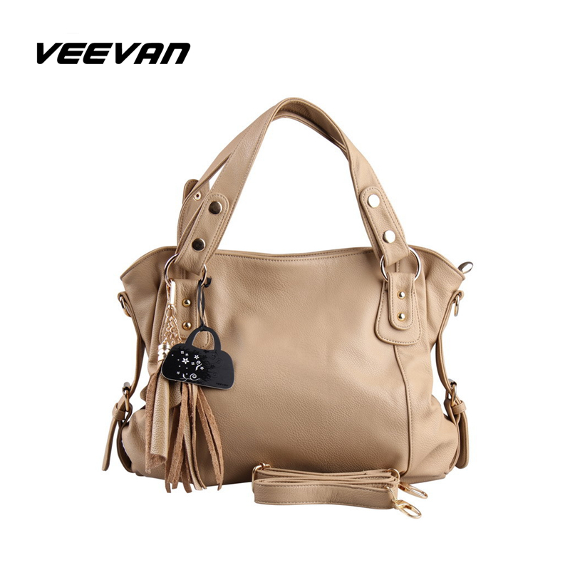2016 VEEVAN leather handbags fashion designer ladies tote handbag crossody shoulder bag tassel women messenger hand bag female(China (Mainland))