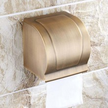 Antique brass wall mounted waterproof paper box 100%solid bathroom toilet tissue holder square style - Saiyue sanitary ware Co.,Ltd store