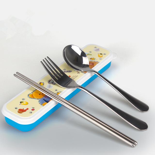 Ребенок ложки вилки лоток для хранения кухня столовые приборы лоток отделки колеса ...
