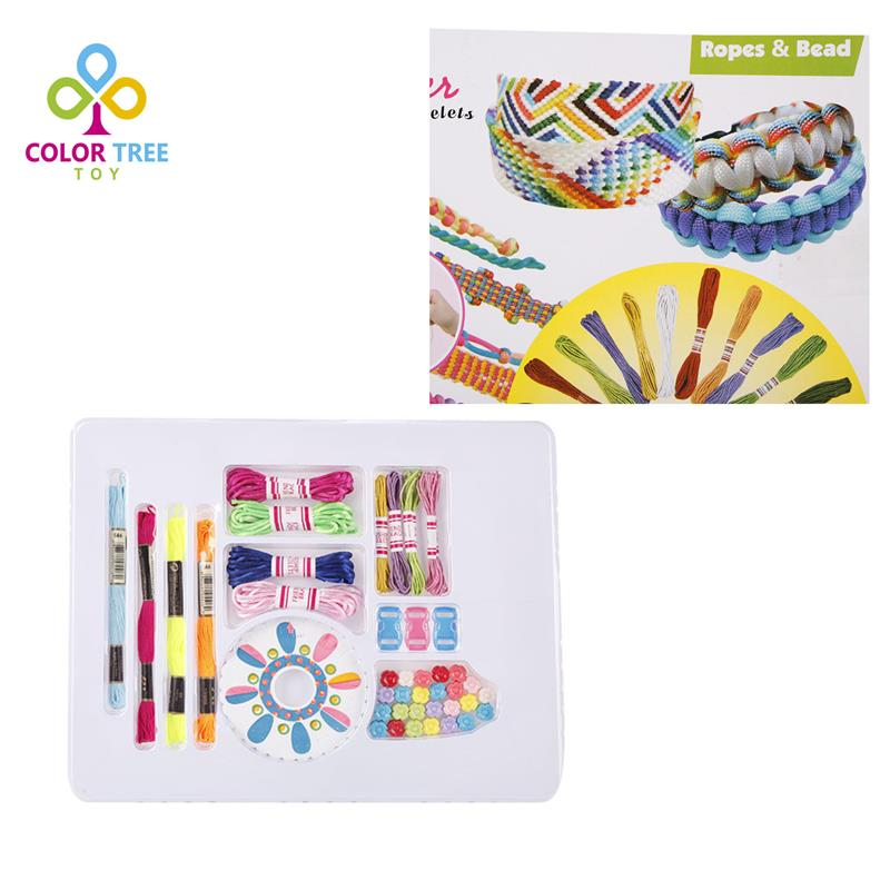 New Funny Children DIY Weave Set Create Unique Accessories Kids Friendship Loom Gifts For Girls(China (Mainland))