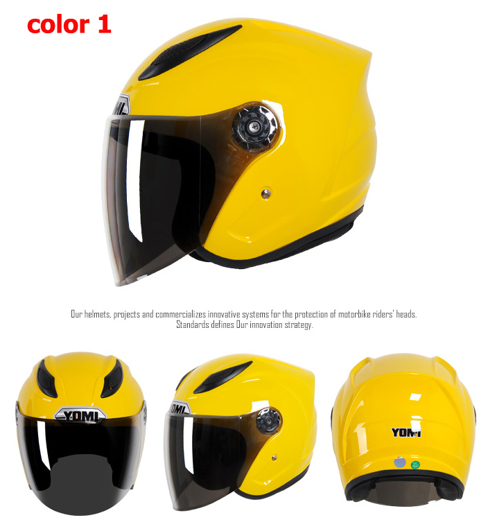 High Qulity YOMI 911 Motorcycle Helmets Fashion Open Face Accessories Parts