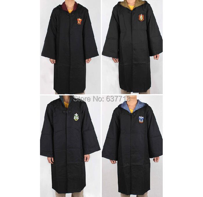 Harry Potter gryffondor / serpentard / poufsouffle / serdaigle Cosplay Costume enfants adultes Cape Robe cadeau Cape Halloween 10 taille(China (Mainland))