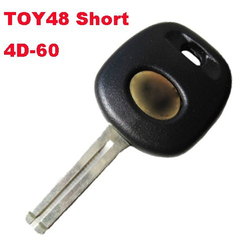 Good quality Transponder Key with 4D60 Chip for Toyota (Toy48 Short) with free shipping(China (Mainland))