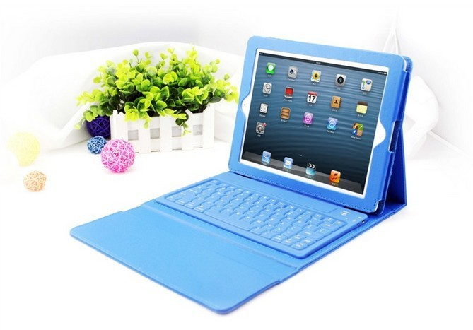 Free shipping Universal for IPAD 2 / 3 / 4 Tablet PC Bluetooth Separate Keyboard Case leather accessory(China (Mainland))