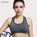 B.BANG 2015 New Summer Women Fitness Sports Bra Crop Top Padded Seamless Underwear Without Underwire Stretch Bras Free Shipping