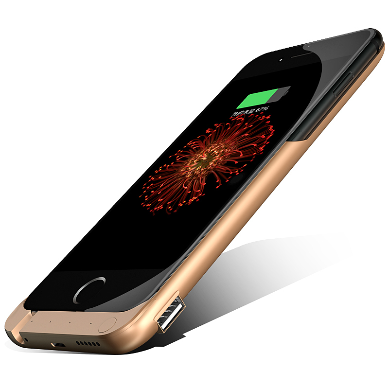 Hot Sale 2015 New Rechargeable Power Case Charger for iPhone 6 4.7 External Backup Battery Case 8000mah For iPhone 6 plus 5.5(China (Mainland))