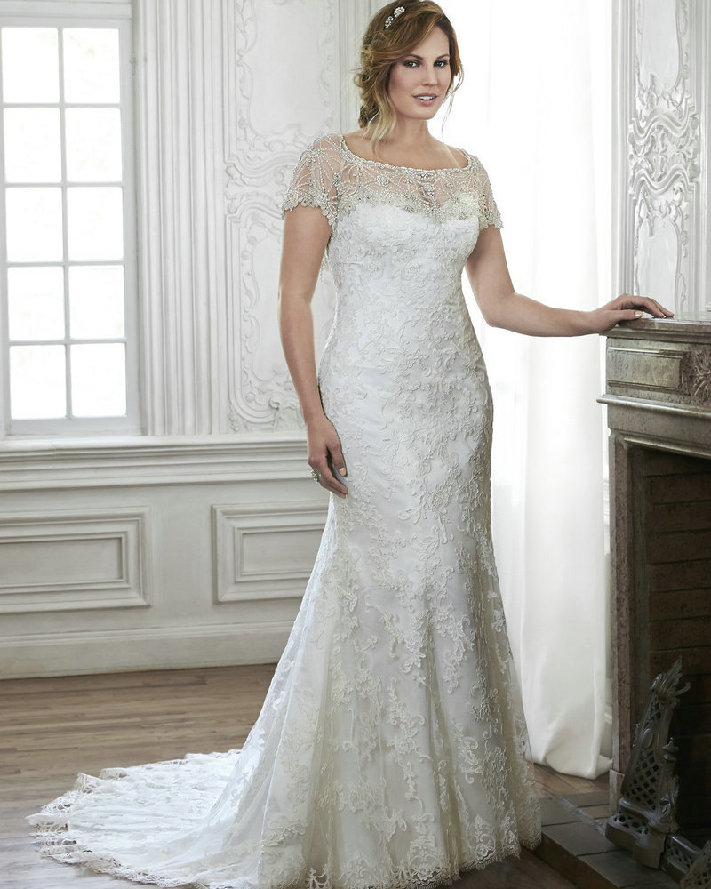 Wedding dresses with sleeves and lace for girl super for Wedding dresses for thick girls