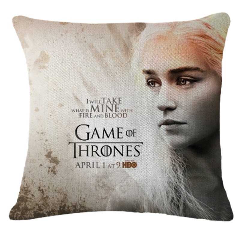 game of thrones pillowcase cotton linen bedroom chair seat throw pillow case decorative pillows. Black Bedroom Furniture Sets. Home Design Ideas