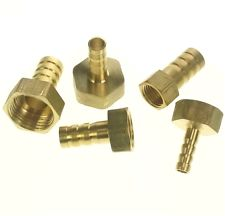 LOT 5 Hose Barb I/D 8mm x M12x1.25mm Metric female Thread Brass coupler Splicer Connector fitting for Fuel Gas Water(China (Mainland))