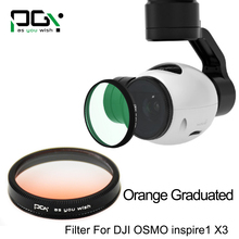 PGY DJI OSMO inspire1 X3 Gimbal Camera Orange graduated filter Lens accessories UAV drone accessories