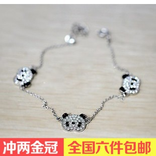 fashion jewelry wholesale special cute little red panda full created diamond bracelet bracelet night market(China (Mainland))