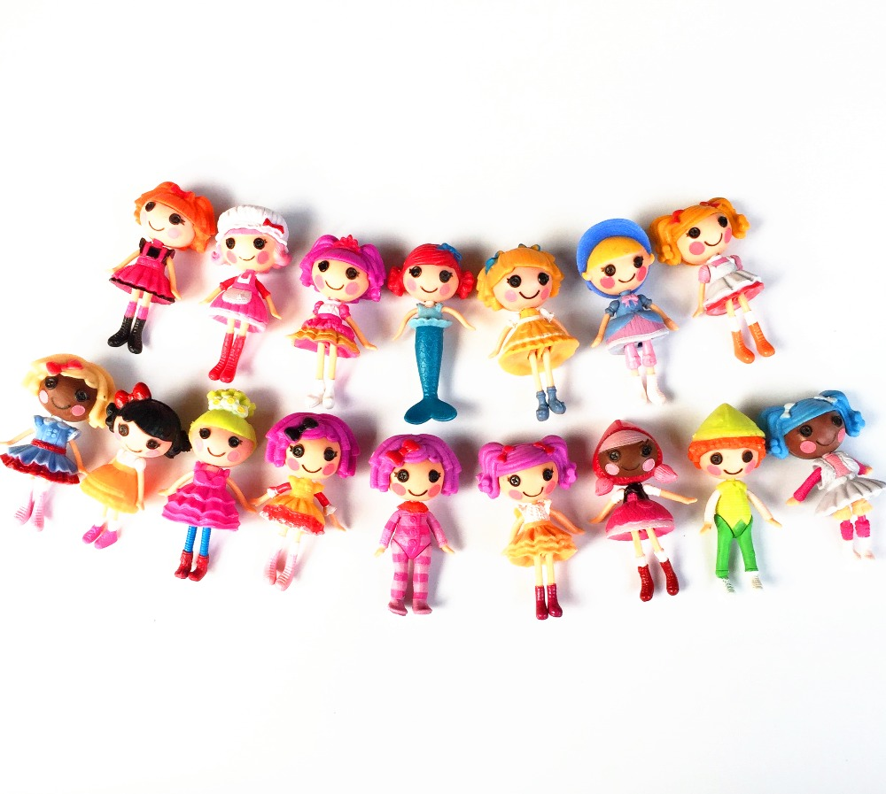 1pc single Sale 16 different 8cm MGA mini Lalaloopsy Doll the bulk button eyes toys for girl classic toys Brinquedos(China (Mainland))