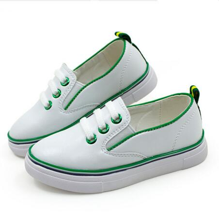 2016 Spring/Autumn Children Casual Sneakers Boys Girls Shoes Genuine Leather Breathable Loafers Slip-On Flats Kids Oxfords 01(China (Mainland))