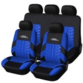 New Polyester Material Racing Car Seat Covers Universal Fit Front Rear Blue line Car Seat Cover