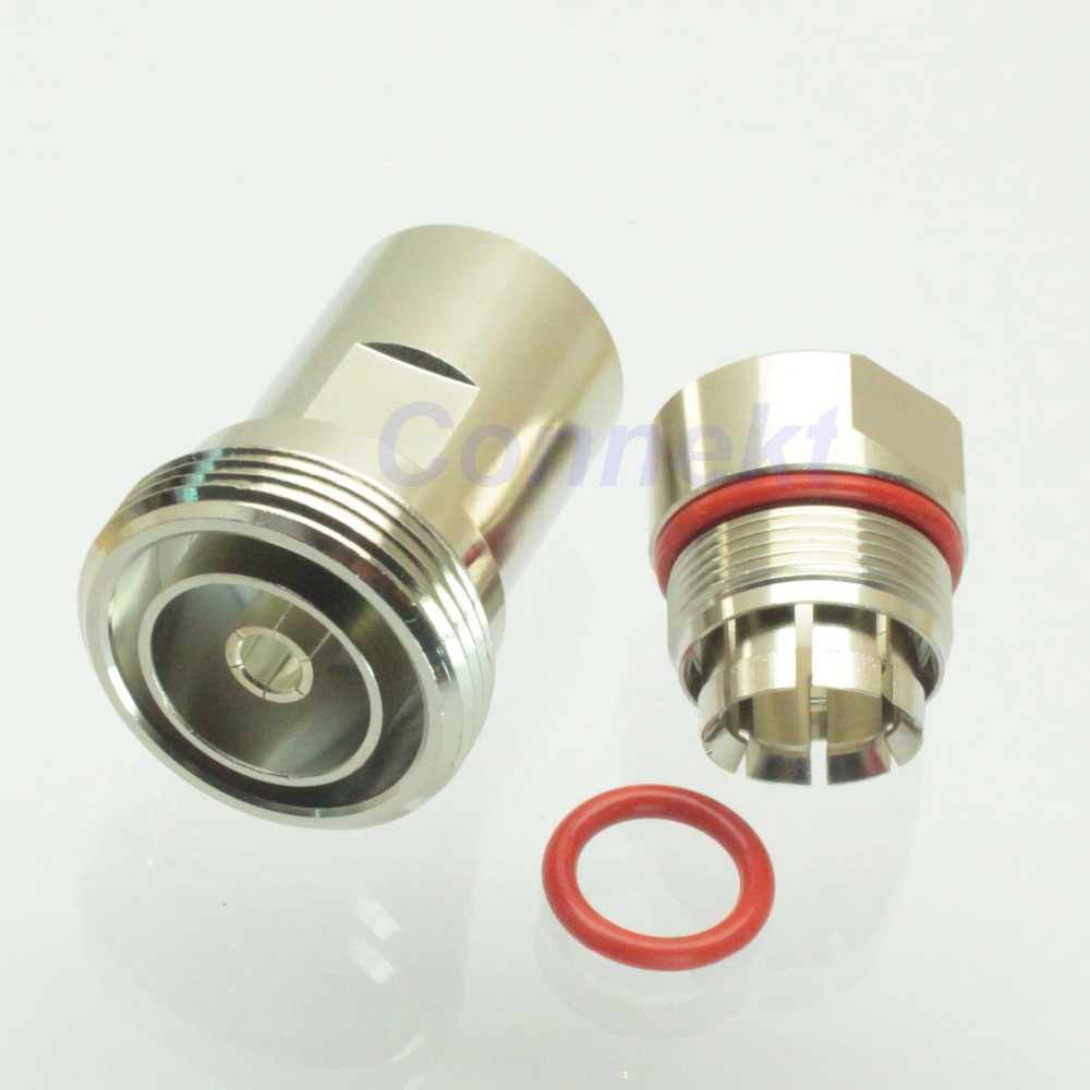 7/16 DIN female jack center clamp 1/2 corrugated cable RF connector<br><br>Aliexpress