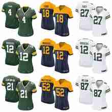 100% Stitiched Green Bay Packer Brett Favre Aaron Rodgers Ha Ha Clinton-Dix Eddie Lacy Clay Matthews Bart Starr For women(China (Mainland))