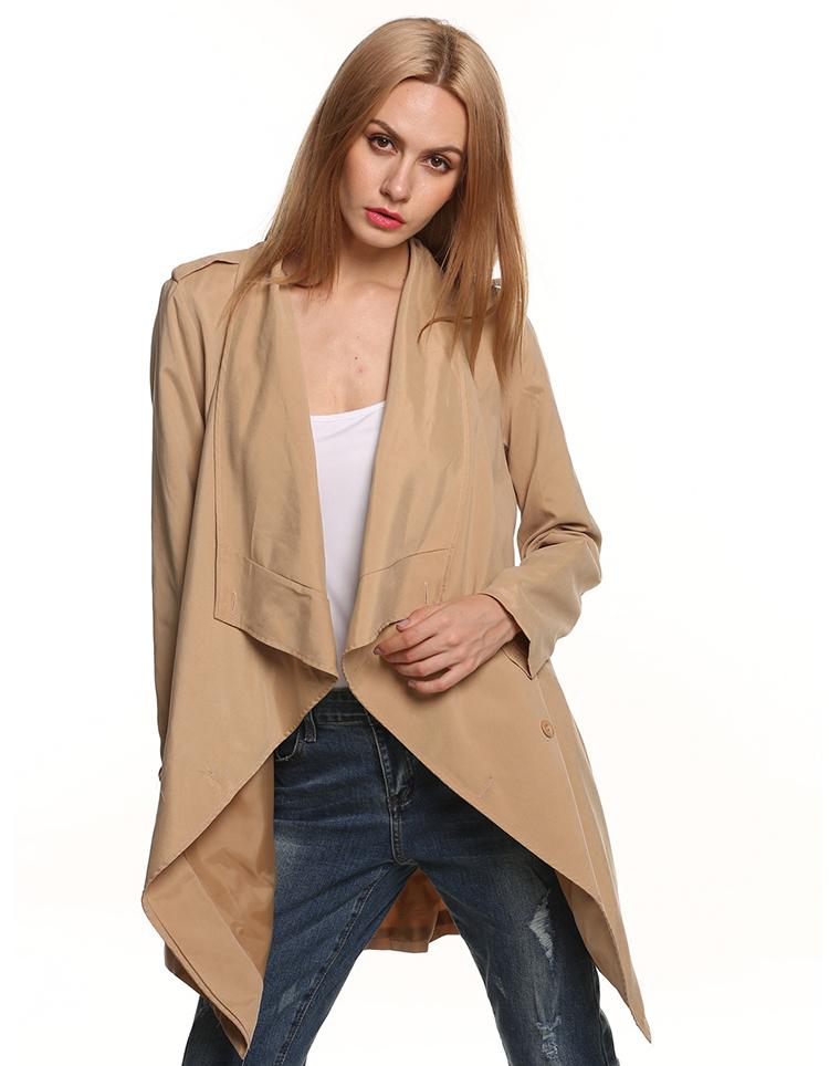british style women long trench coat cloak manteau femme. Black Bedroom Furniture Sets. Home Design Ideas