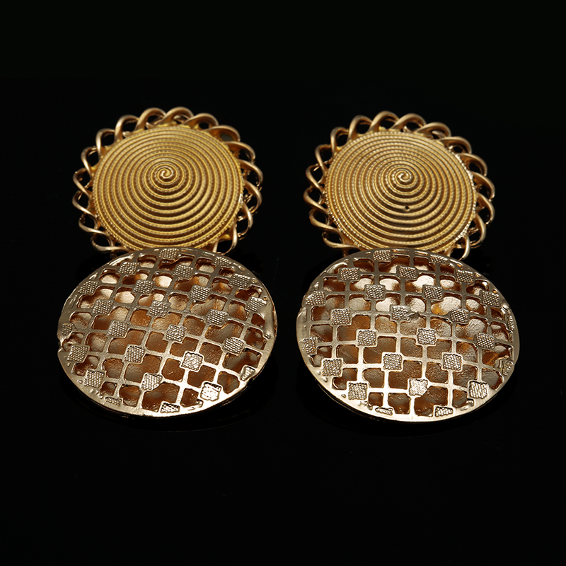 Wholesale African Gold Color Nigerian Wedding African Beads Jewelry Set Crystal Saudi Jewelry Sets Bracelet Earring Ring Jewelry