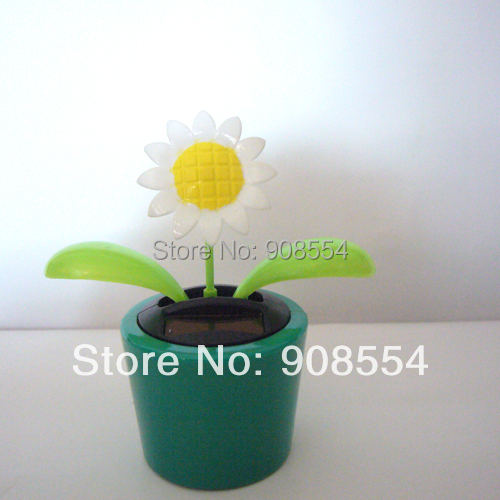 Free Shipping Wholesale 15 Pcs Per Lot Sunflower Gently Novelty Happy Dancing Home&Car Decoration Flip Flap Solar Toys(China (Mainland))