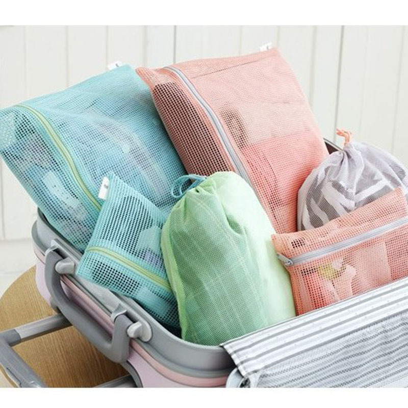 Women Portable Travel Clothing Storage Bag Home Waterproof Mesh Wash Underwear Bag Factory Direct Travel Pouch Free Shipping(China (Mainland))