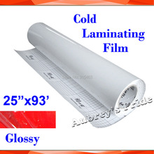 """NEW 25""""X101'(0635x28M) Glossy Clear UV Luster PVC Cold Laminating Film Protect Photo For Cold Laminator(China (Mainland))"""