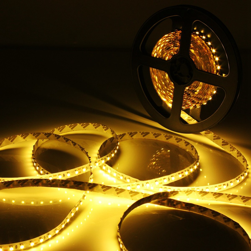 Waterproof/Non Waterproof Warm/Pure White Light 48W 5M 2835 SMD 600 LED Strip Light 12V DC Tape 3000-4200LM(China (Mainland))