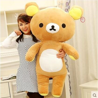 1pcs Hot Sale Gift 60cm Rilakkuma Relax Bear Stuffed Toys Cute Soft Pillow Plush Toy Doll Gift for Children(China (Mainland))