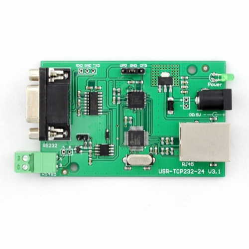Q00194 1 Piece USR-TCP232-24 Converter Module Server RS232 RS485 serial to Ethernet TCP/IP RJ45(China (Mainland))