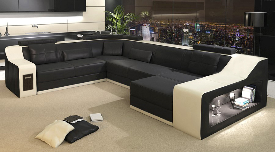 2015 modern sofa leather sofa sofa set sofa furniture in for Latest living room furniture designs