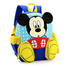 2016 Hot Cartoon mickey children backpacks/kids kindergarten backpack/kid school bags/Satchel for boys and girls free shipping(China (Mainland))