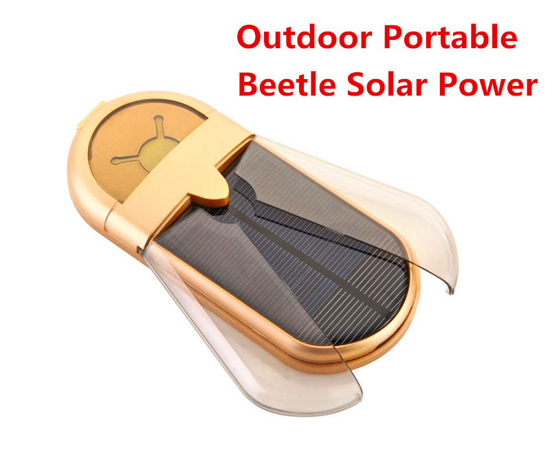 Beetle Solar Energy Supply Power Bank outdoor portable Universal Charger For Apple Samsung HTC LG SONY MOTO Insect Spare Battery(China (Mainland))