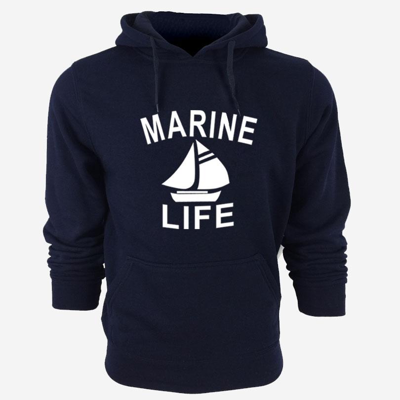 MARINE LIFE Sweatshirt Streetwear Hip Hop Rock Hoodie Mens Tracksuits Pullovers Cheap Crewnecks Sweatshirts Moleton(China (Mainland))