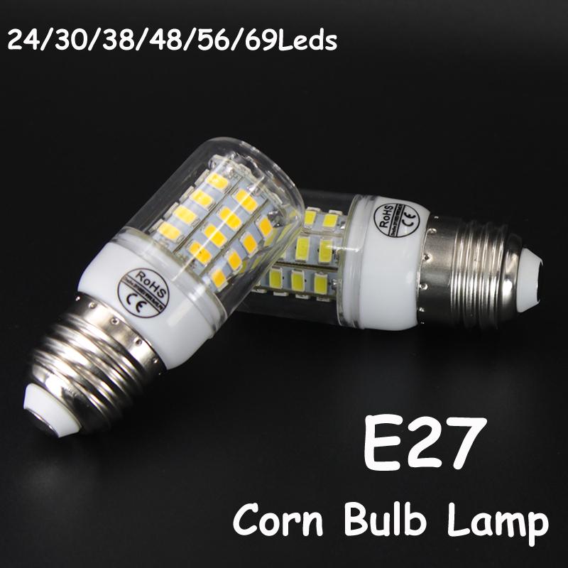 E27 Corn Bulb Lampada Led 24 30 38 48 56 69 Leds Corn Lamps 220V AC Home Decoration Spotlight SMD 5730 Ampoule Led Lights(China (Mainland))