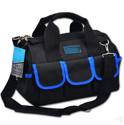 Hot Sale Waterproof Canvas Multifunction More Pocket Large Capacity Handbag Shoulder Electrical Tool Package Repair Kit Tool bag(China (Mainland))