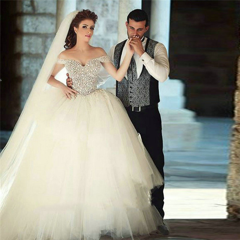 Luxury off the shoulder ball gown wedding dresses 2016 for Off the shoulder ball gown wedding dress