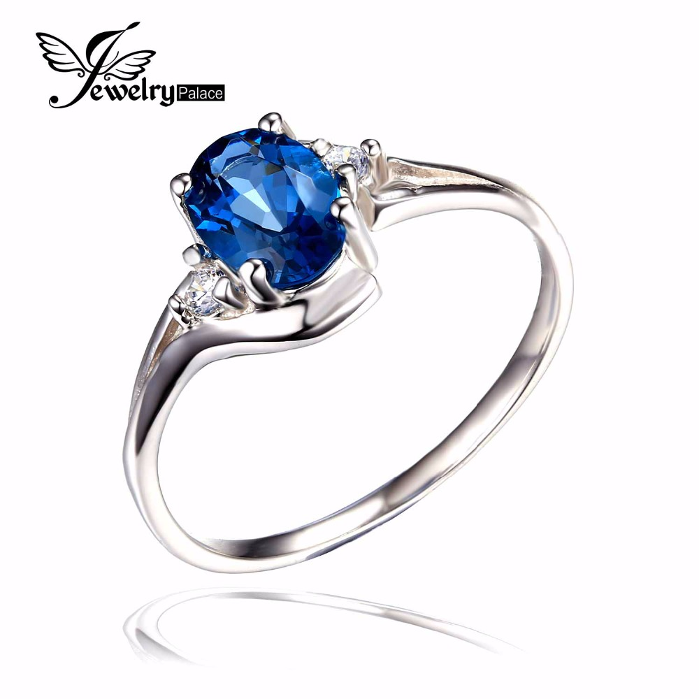 Hot Top Quality Women Fashionable Wholesale Promotion Wedding Gift London Blue Topaz Ring 925 Sterling Silver Free Shipping(China (Mainland))